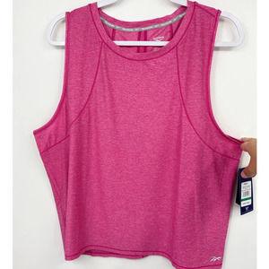 Reebok Pink Sleeveless Open Back Detail Shirt  NEW